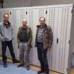 De bouwers van vandaag vlnr: Joost, Martijn en Rob (en Mischa achter de camera)