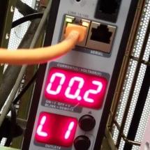 BAM !!!! de eerste stroom loopt kort na de verhuizing van 220meter naar de 20e etage.